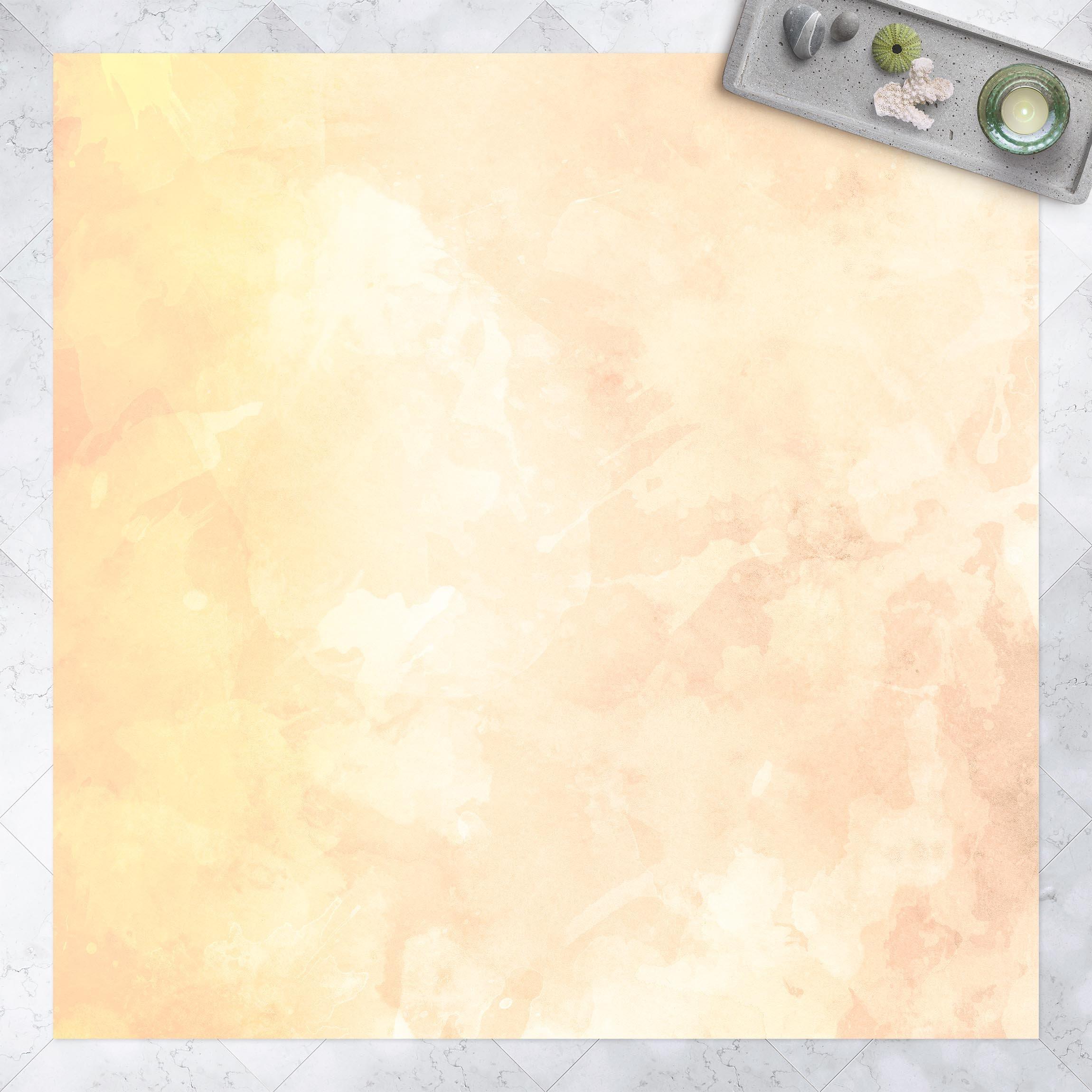 Vinyl-Teppich Aquarellstruktur Gelbe Sonnenflecken günstig online kaufen