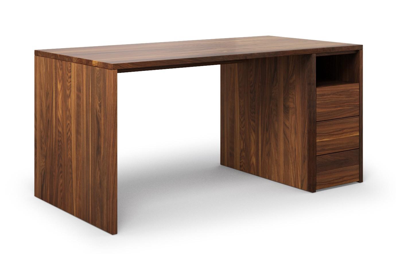 Schreibtisch Labora aus Nussbaum günstig online kaufen
