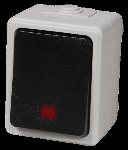 """Kontroll-Schalter Feuchtraum IP44 Grau """"Taff"""" günstig online kaufen"""