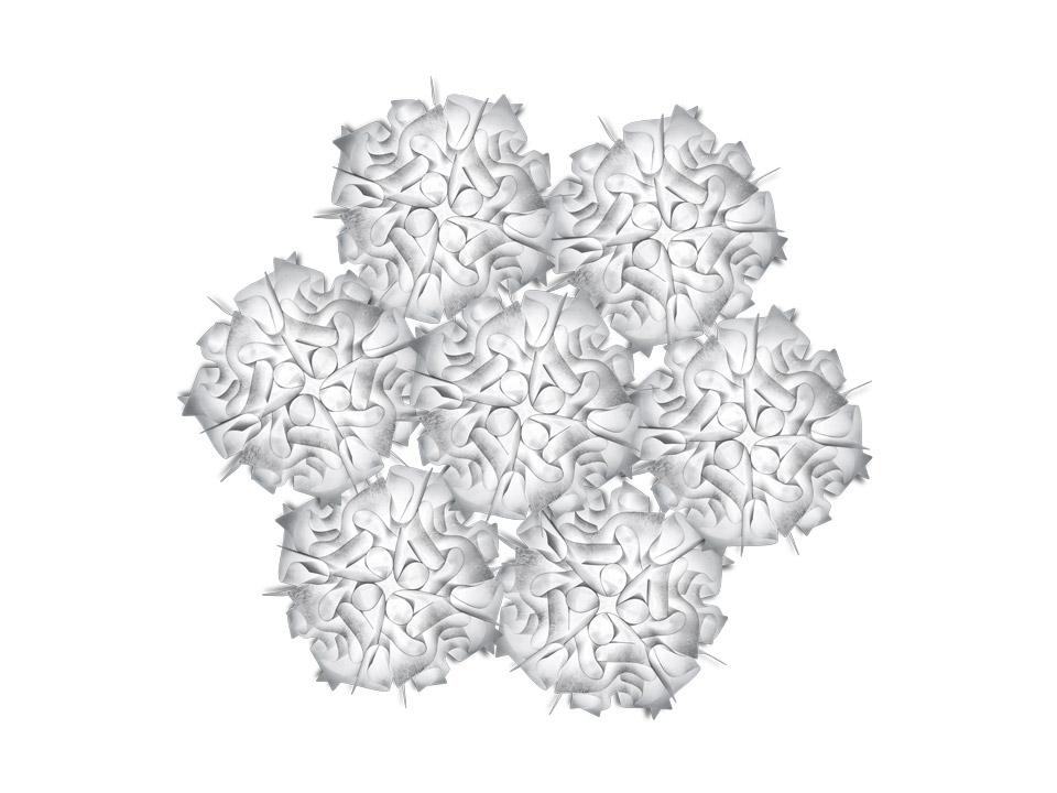 SLAMP Weiße Pendelleuchten VELI 7 SUSPENSION COUTURE, Weiß, VEL78SOS0006BW0 günstig online kaufen