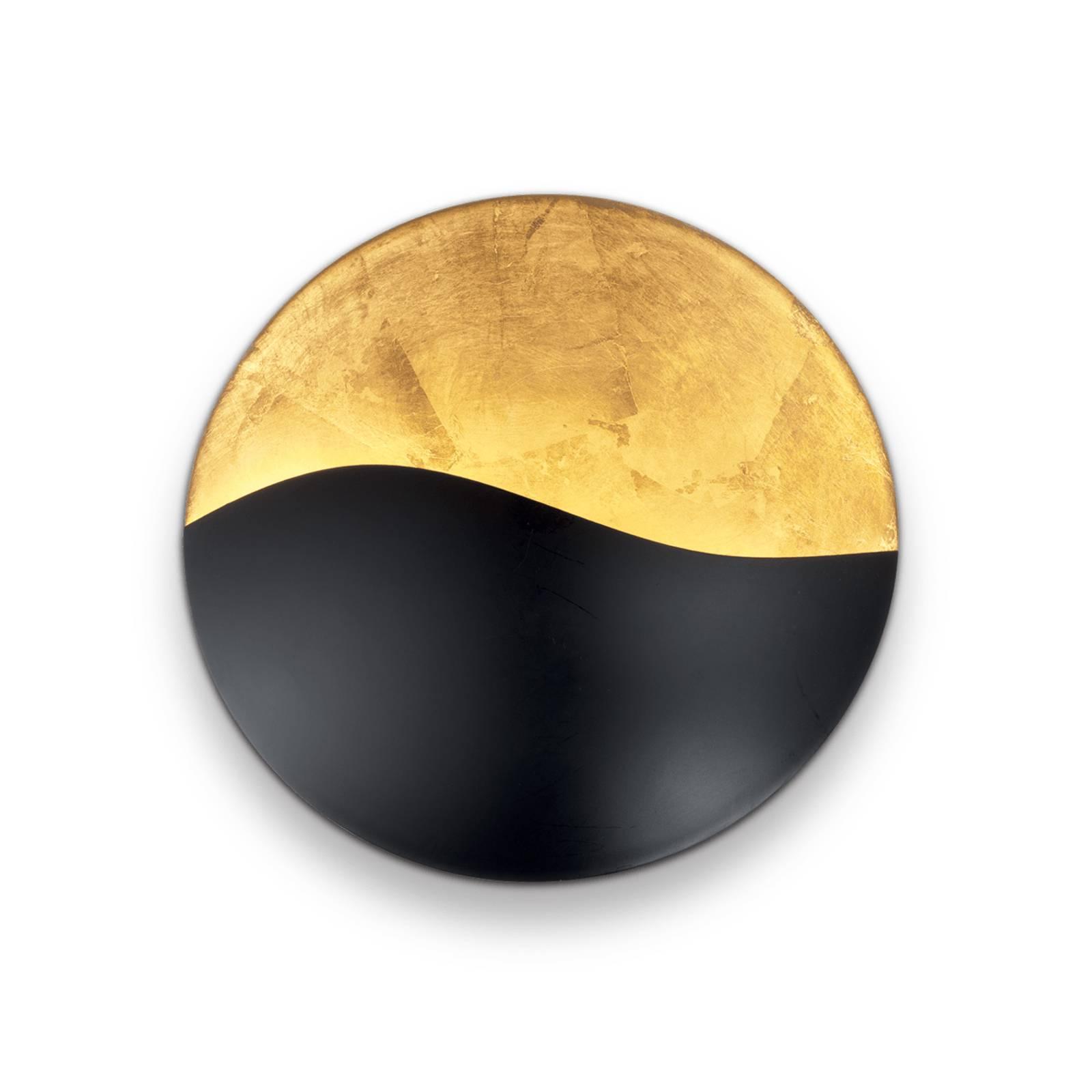 Wandleuchte Sunrise G9, schwarz / gold, Ø 27,5 cm günstig online kaufen