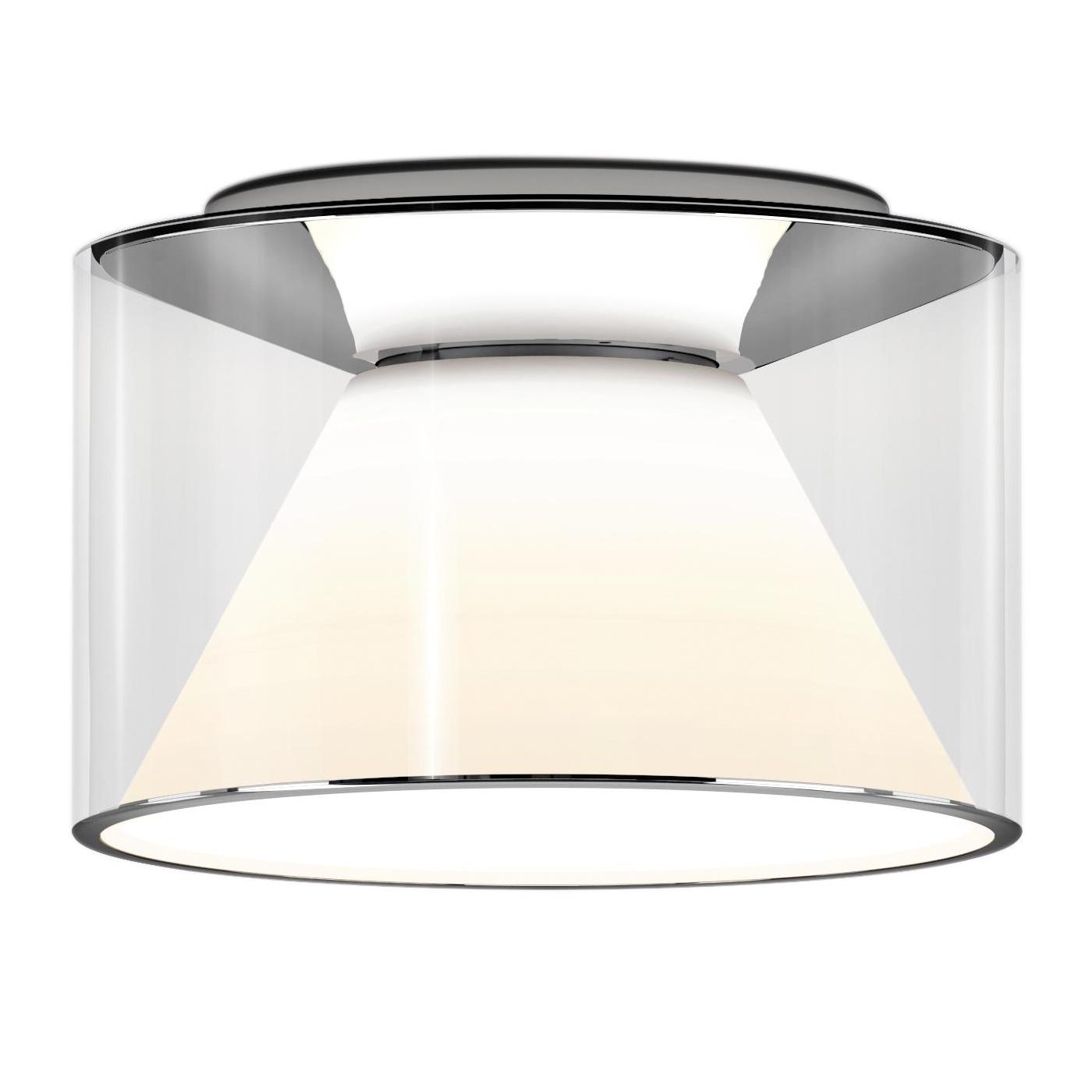 Serien - Drum LED Deckenleuchte M Kurz 2700K - transparent/H 13cm \\ Ø 22cm günstig online kaufen