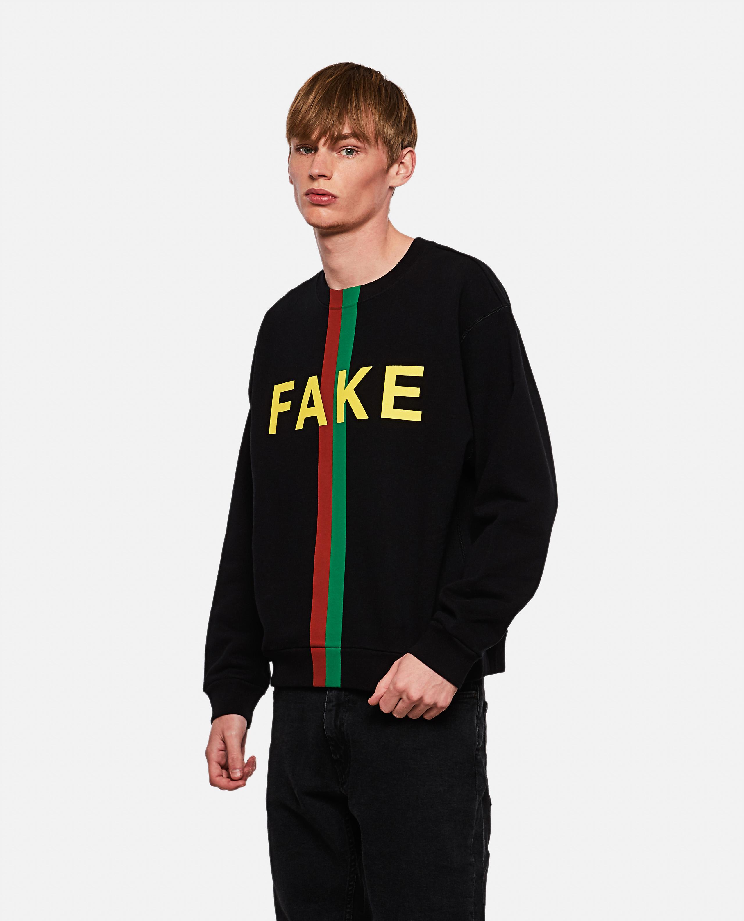 Sweatshirt with 'Fake / Not' print günstig online kaufen