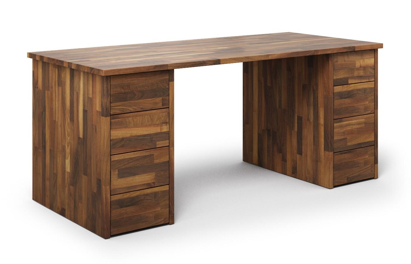 Schreibtisch Nagano aus Nussbaum günstig online kaufen