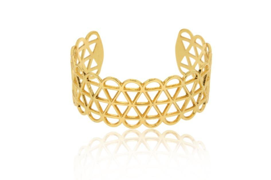 JULES & GENTS Armreif »Spirit of Life«, Bronze gelbvergoldet günstig online kaufen