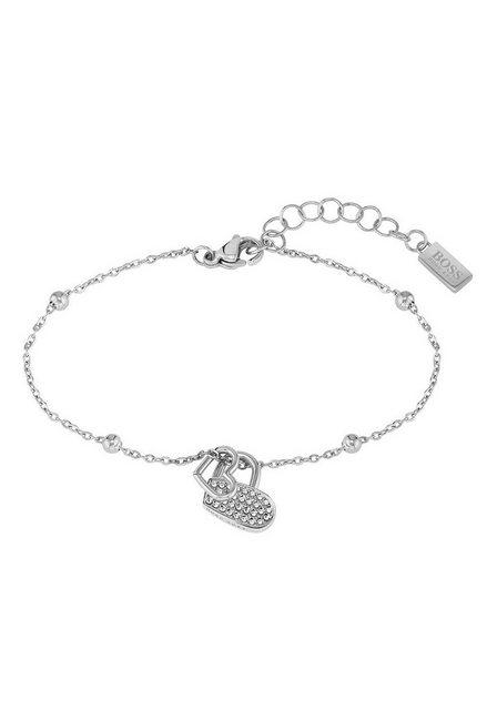Boss Armkette »Herz, Soulemate, 1580215«, mit Glasstein günstig online kaufen