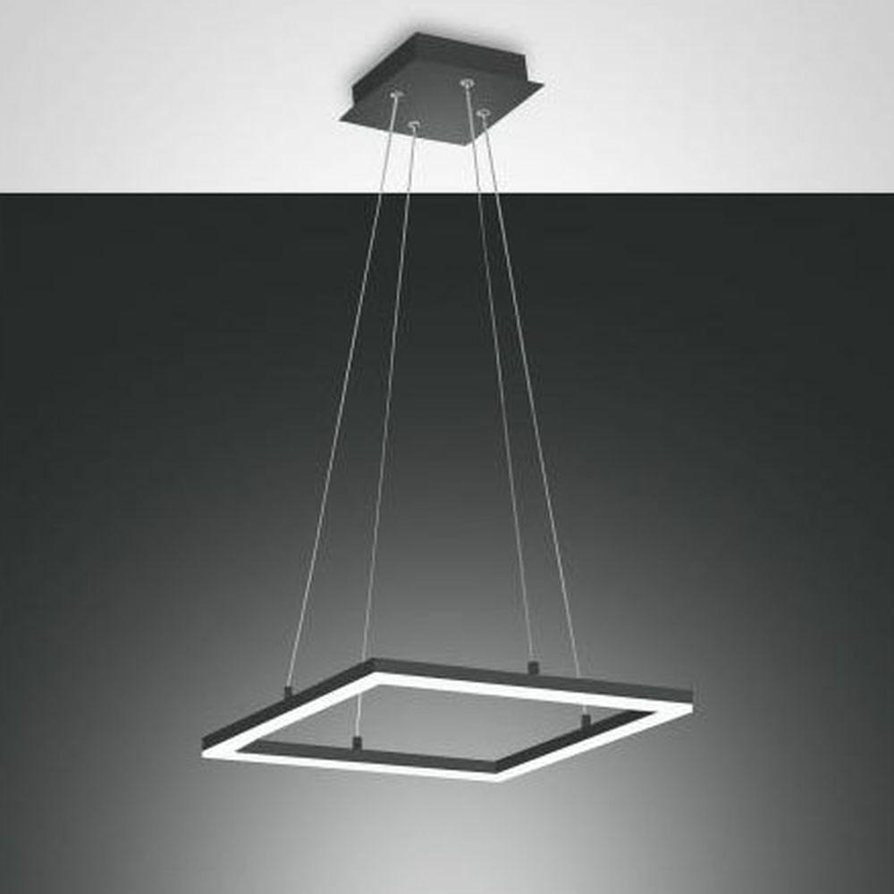 LED Pendelleuchte Bard in Anthrazit 420x420mm günstig online kaufen