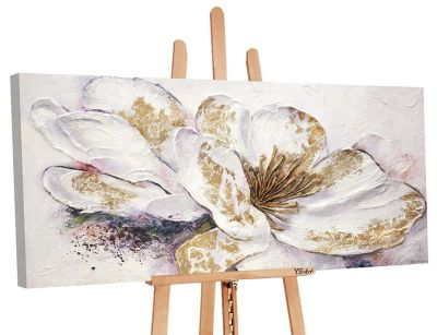 "YS-Art™ ""Gemälde Acryl """"Goldene Pfingstrose"""" handgemalt auf Leinwand"" bei günstig online kaufen"