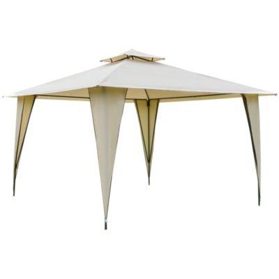 Outsunny Pavillon mit Doppeldach beige günstig online kaufen