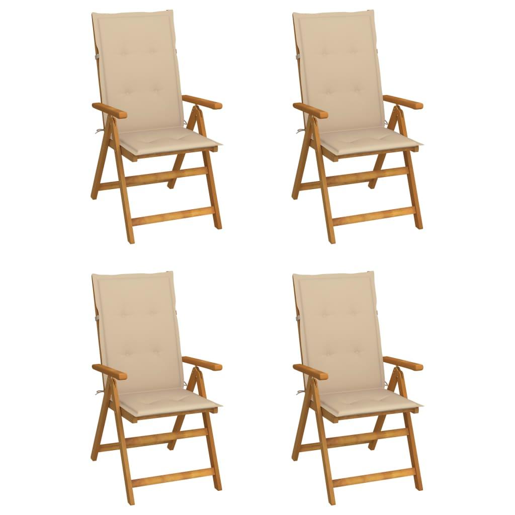 Garten-liegestühle 4 Stk. Mit Kissen Akazie Massivholz günstig online kaufen