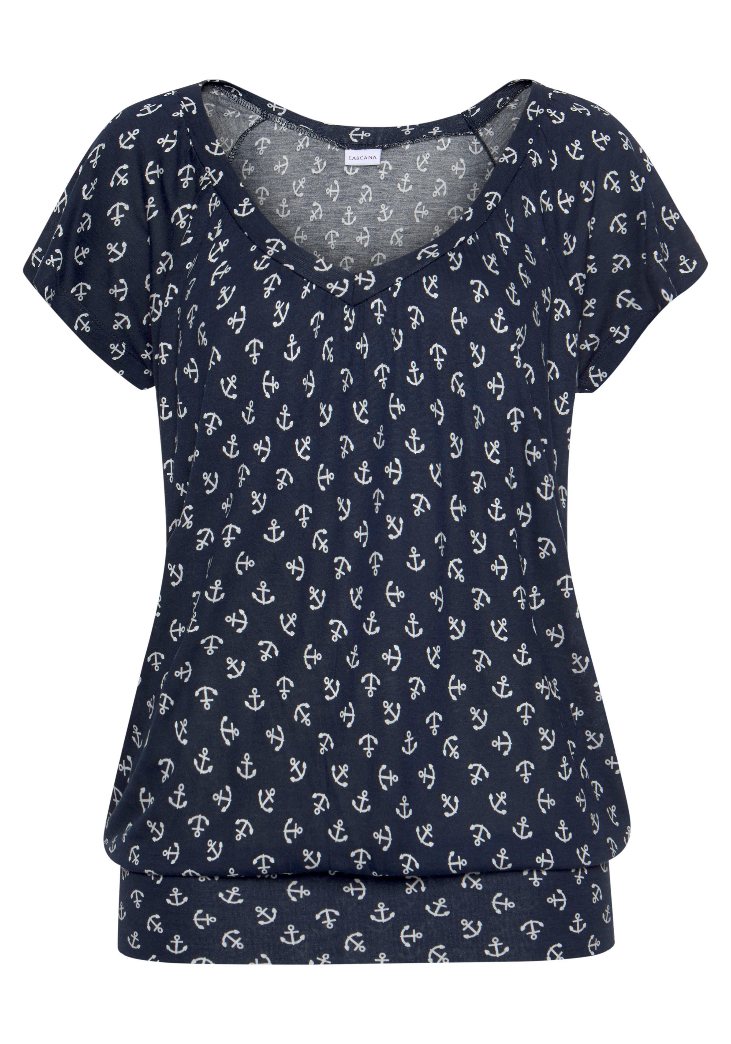 Beachtime Strandshirt, mit Ankerdruck günstig online kaufen