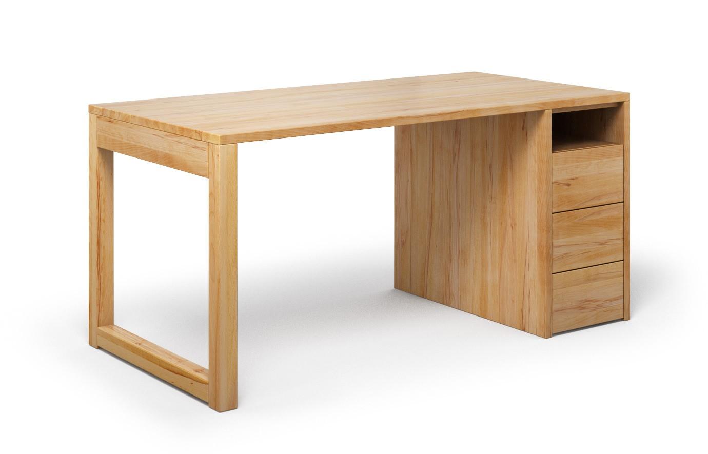 Schreibtisch Cantus aus Buche rustikal günstig online kaufen