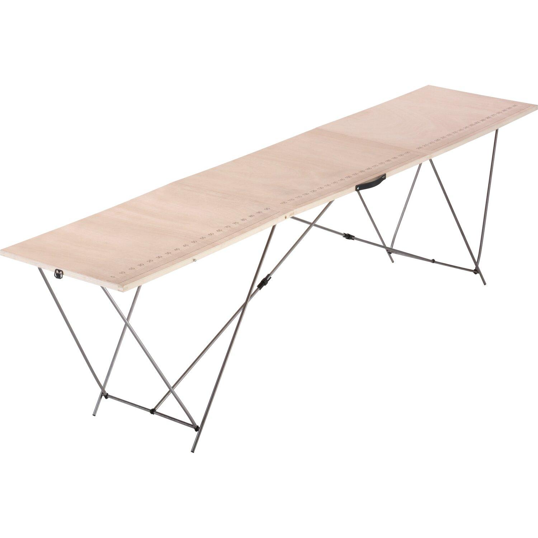LUX Holz-Tapeziertisch mit Stahl-Gestell günstig online kaufen