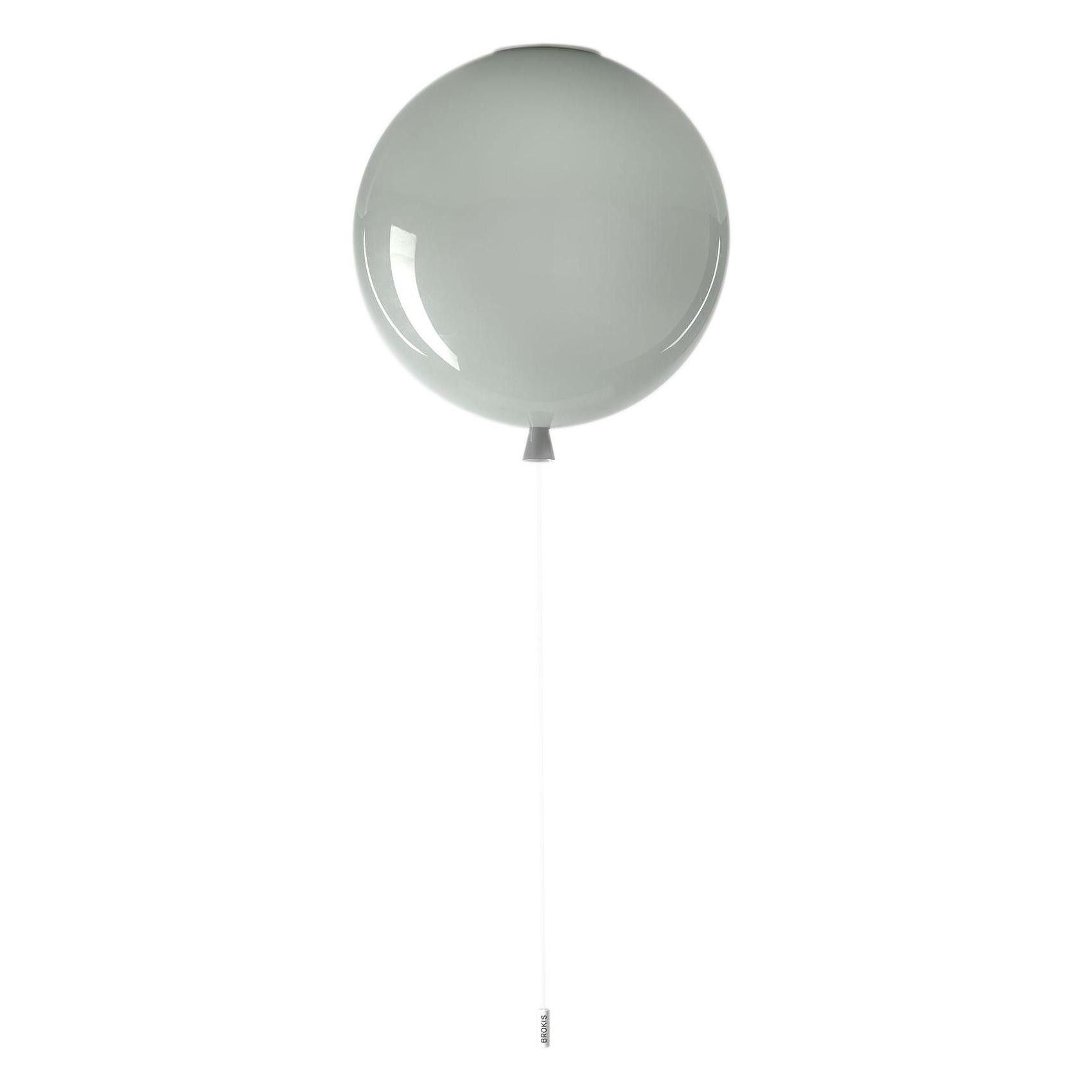 Brokis - Memory 400 Deckenleuchte - grau/glänzend/H 41,5cm / Ø 40cm/Kabel w günstig online kaufen