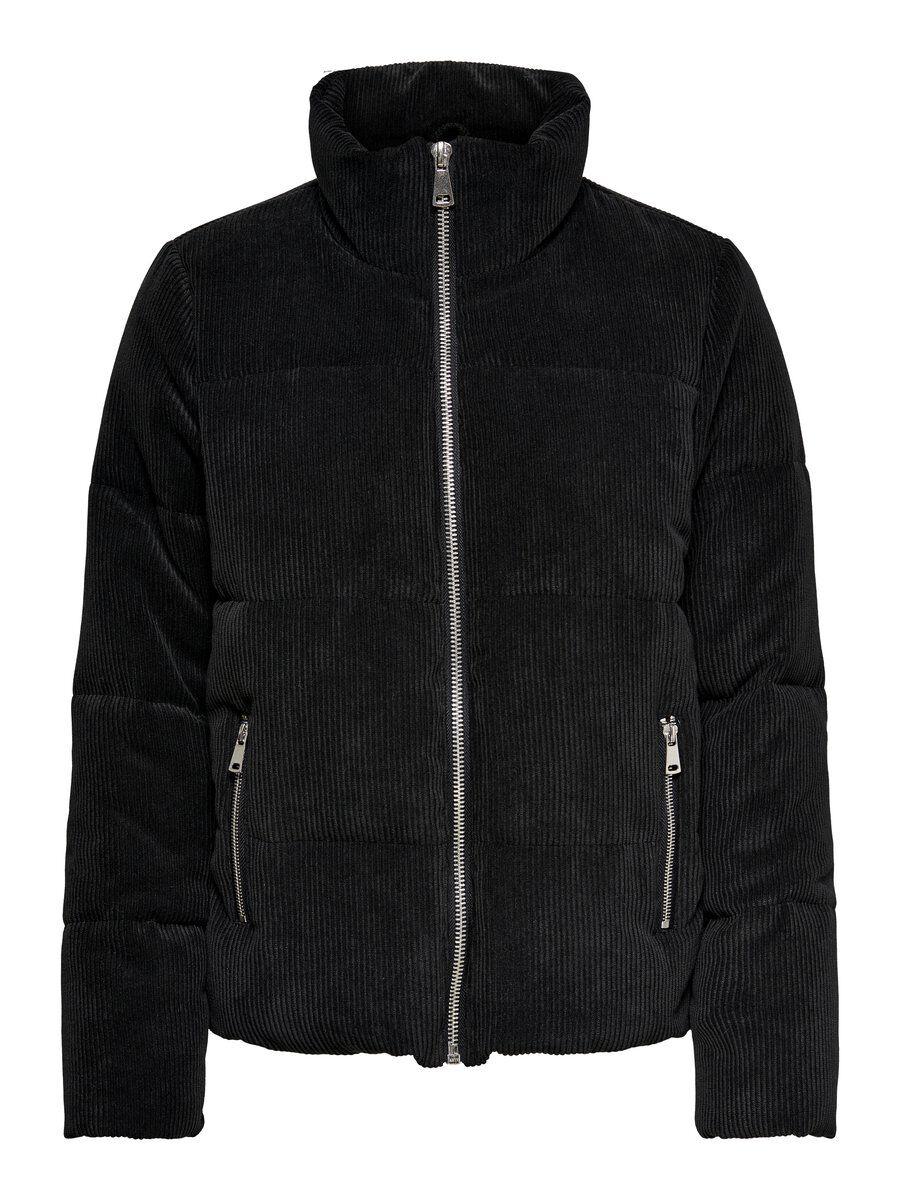 ONLY Stepp Cord Jacke Damen Schwarz günstig online kaufen