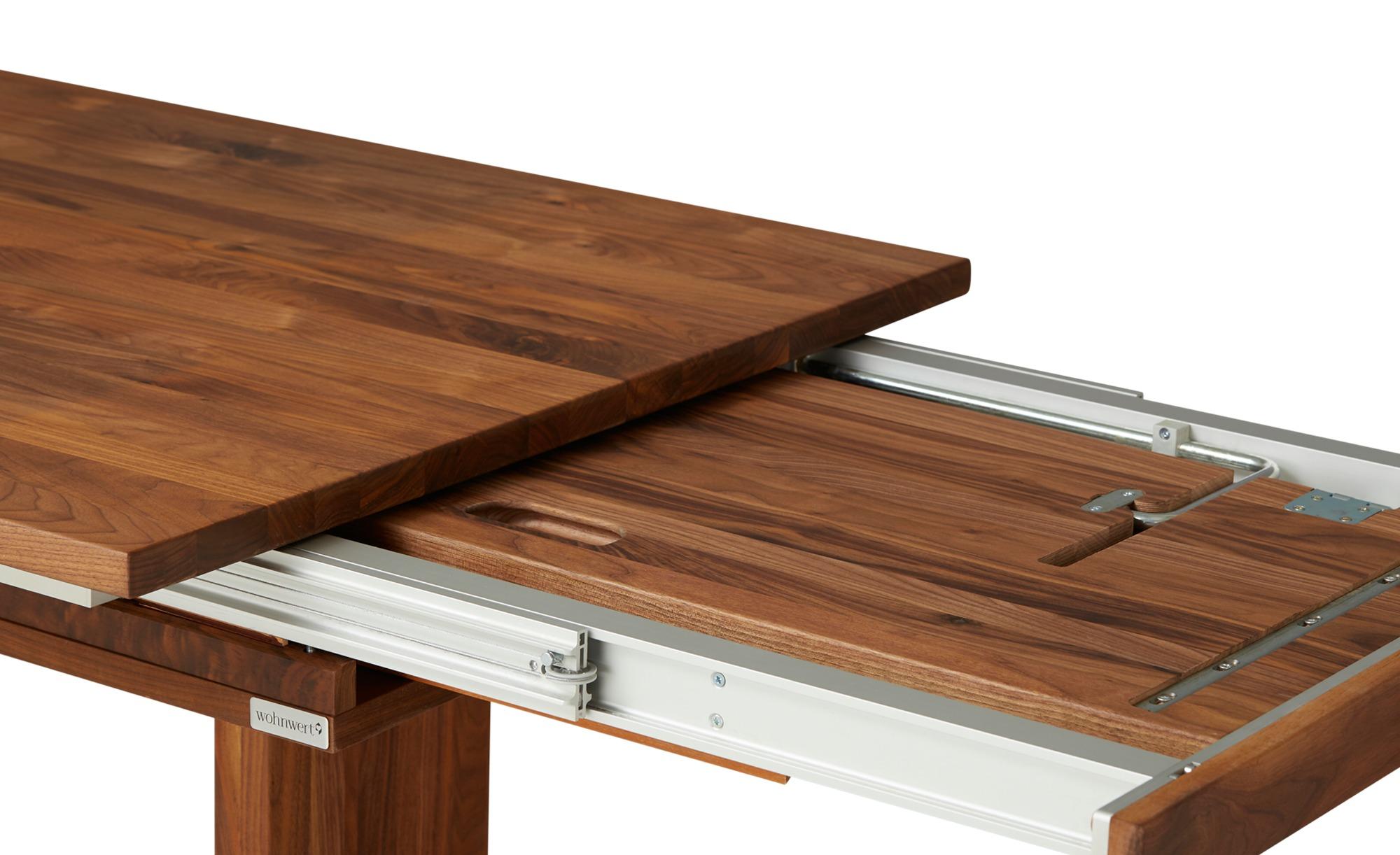 Wohnwert Auszugsfunktion  Der Säulentisch - holzfarben - Tische > Tischplat günstig online kaufen