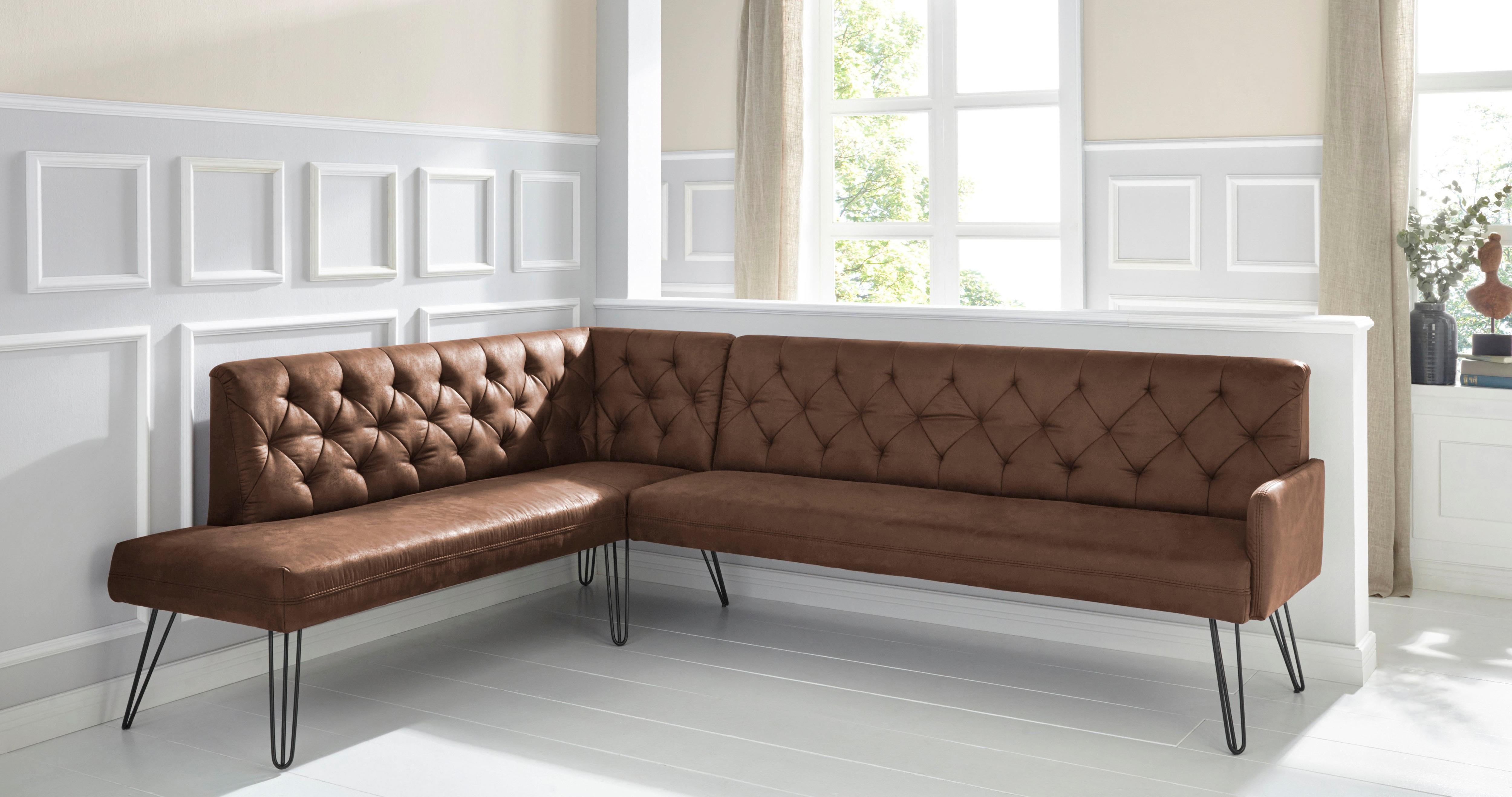 exxpo - sofa fashion Eckbank Doppio, Frei im Raum stellbar günstig online kaufen
