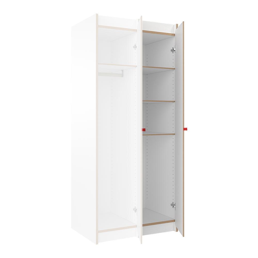 Tojo - Steh Schrank Anbaumodul - weiß/BxHxT 37.9x180x54.5cm/mit 4x Einlegeb günstig online kaufen