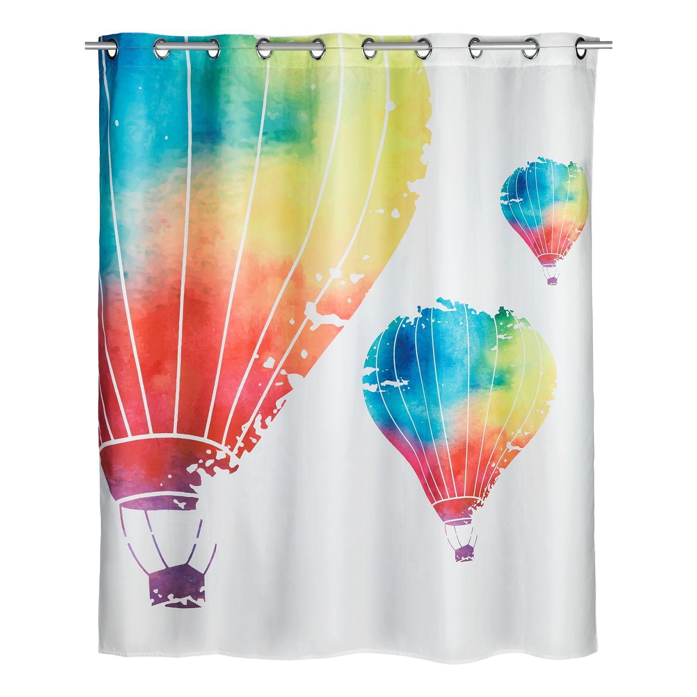 home24 WENKO Anti-Schimmel Duschvorhang In the Air Mehrfarbig Webstoff 180x günstig online kaufen