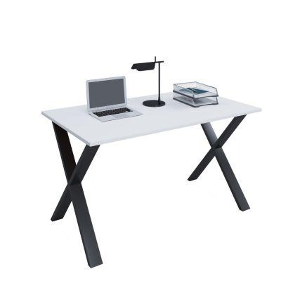 Schreibtisch VCM Lona 140x50 X-Fußgestell - Kern-Nussbaum/Schwarz günstig online kaufen