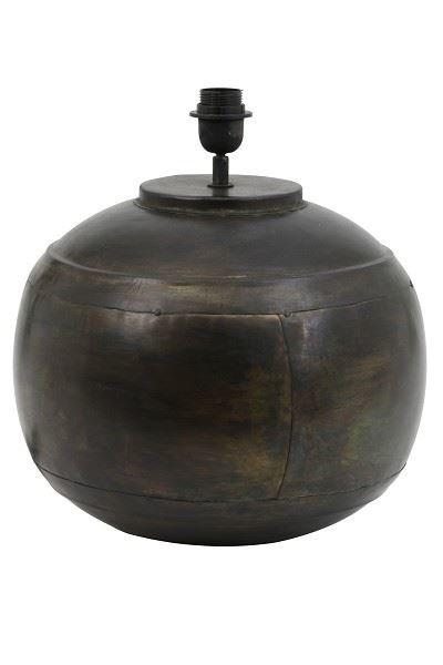 Light & Living Tischleuchten LYBA Lampenfuss schwarz zink 37 cm (schwarz) günstig online kaufen