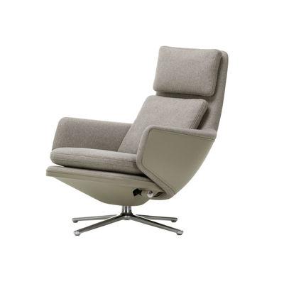 Grand Relax Drehsessel / dreh- & & lehnbar - Leder & Stoff - Vitra - Beige günstig online kaufen