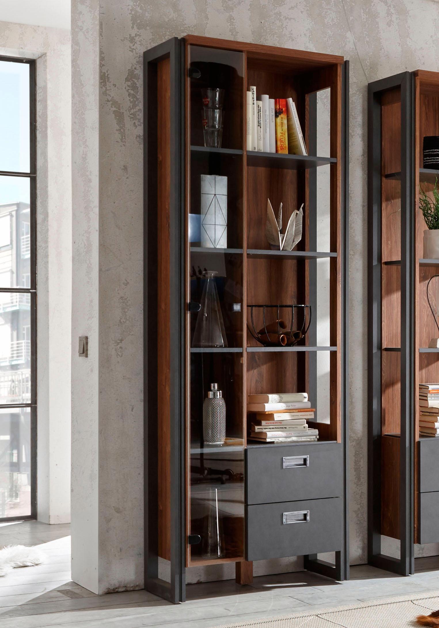 Home affaire Mehrzweckregal Detroit, Höhe 202 cm, im angesagten Industrial- günstig online kaufen