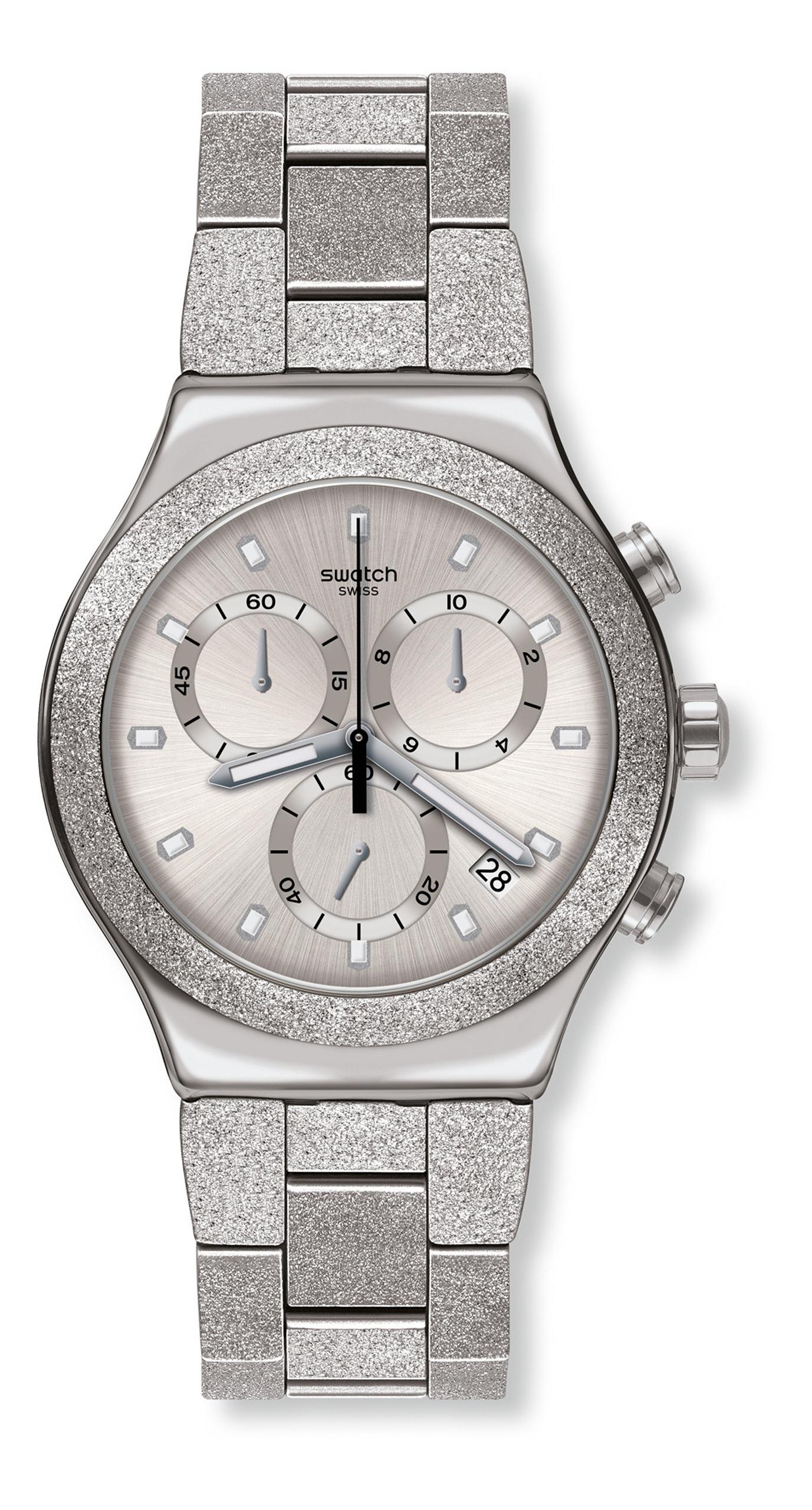Swatch SILVER EXPLOSION YVS472G Chronograph günstig online kaufen