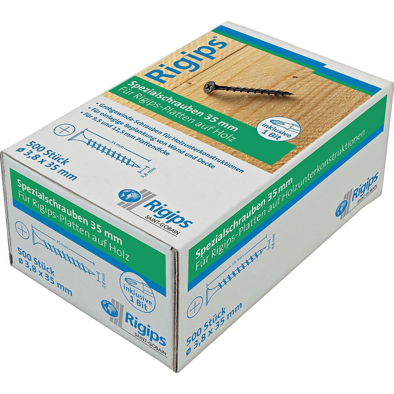 Saint-Gobain Rigips Grobgewindeschrauben für Holz 3,8 mm x 35 mm 500 Stück günstig online kaufen