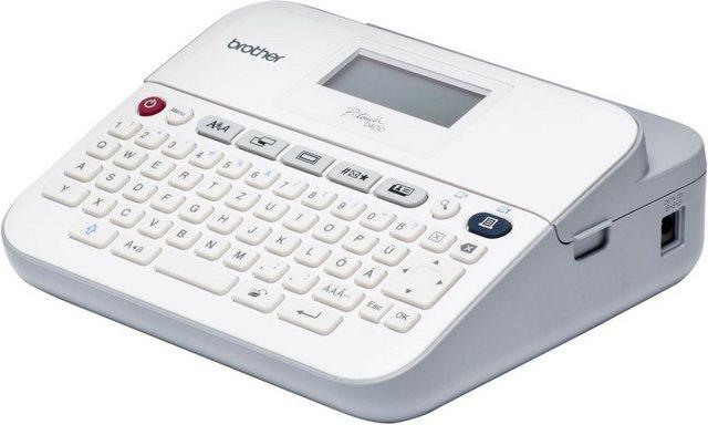 Brother P-touch D400VP Beschriftungsgerät mit Koffer mobiler Drucker, (Besc günstig online kaufen