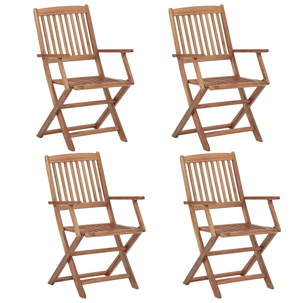 Klappbare Gartenstühle 4 Stk. Massivholz Akazie günstig online kaufen