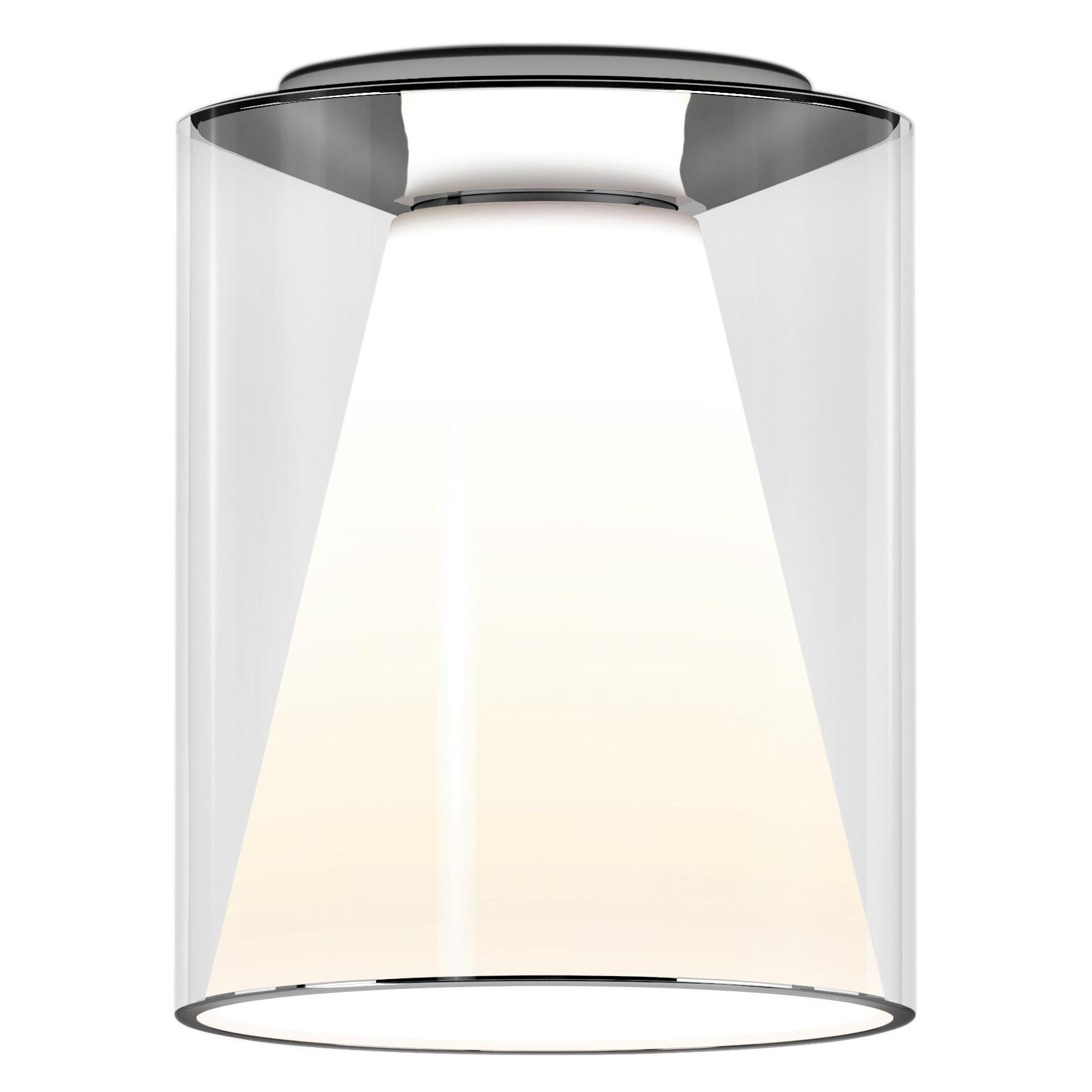 Serien - Drum LED Deckenleuchte M Lang 2700K - transparent/H 28,5cm \\ Ø 22 günstig online kaufen