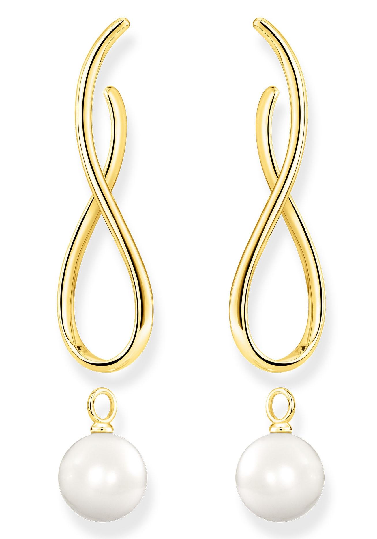 THOMAS SABO Paar Ohrstecker Heritage mit Perle gold, H2099-413-39, mit abne günstig online kaufen