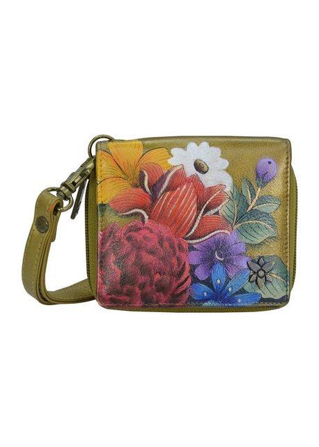 ANUSCHKA Mini Geldbörse »Dreamy Floral (handbemaltes Leder)«, mit RFID-Bloc günstig online kaufen