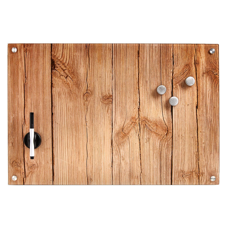 Zeller Present Magnettafel »Wood«, Memoboard, aus Glas, Holz Motiv günstig online kaufen