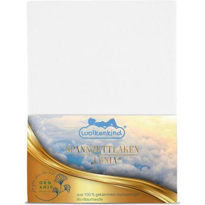 wolkenkind® Spannbettlaken aus Bio-Baumwolle LONIA Bettlaken weiß Gr. 180 x günstig online kaufen
