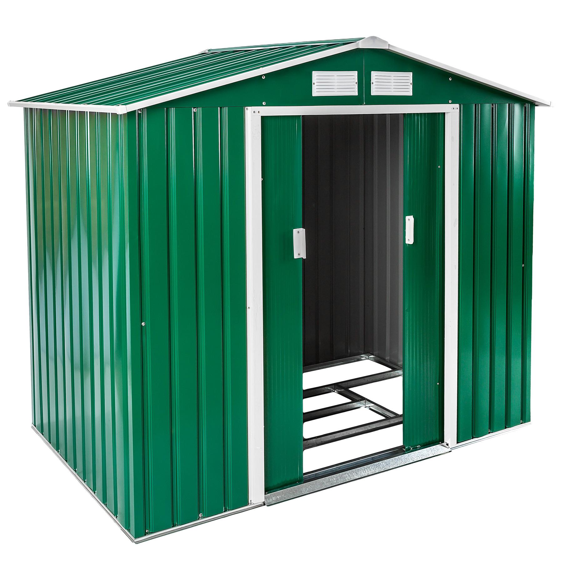 Gartenhaus mit Satteldach grün günstig online kaufen