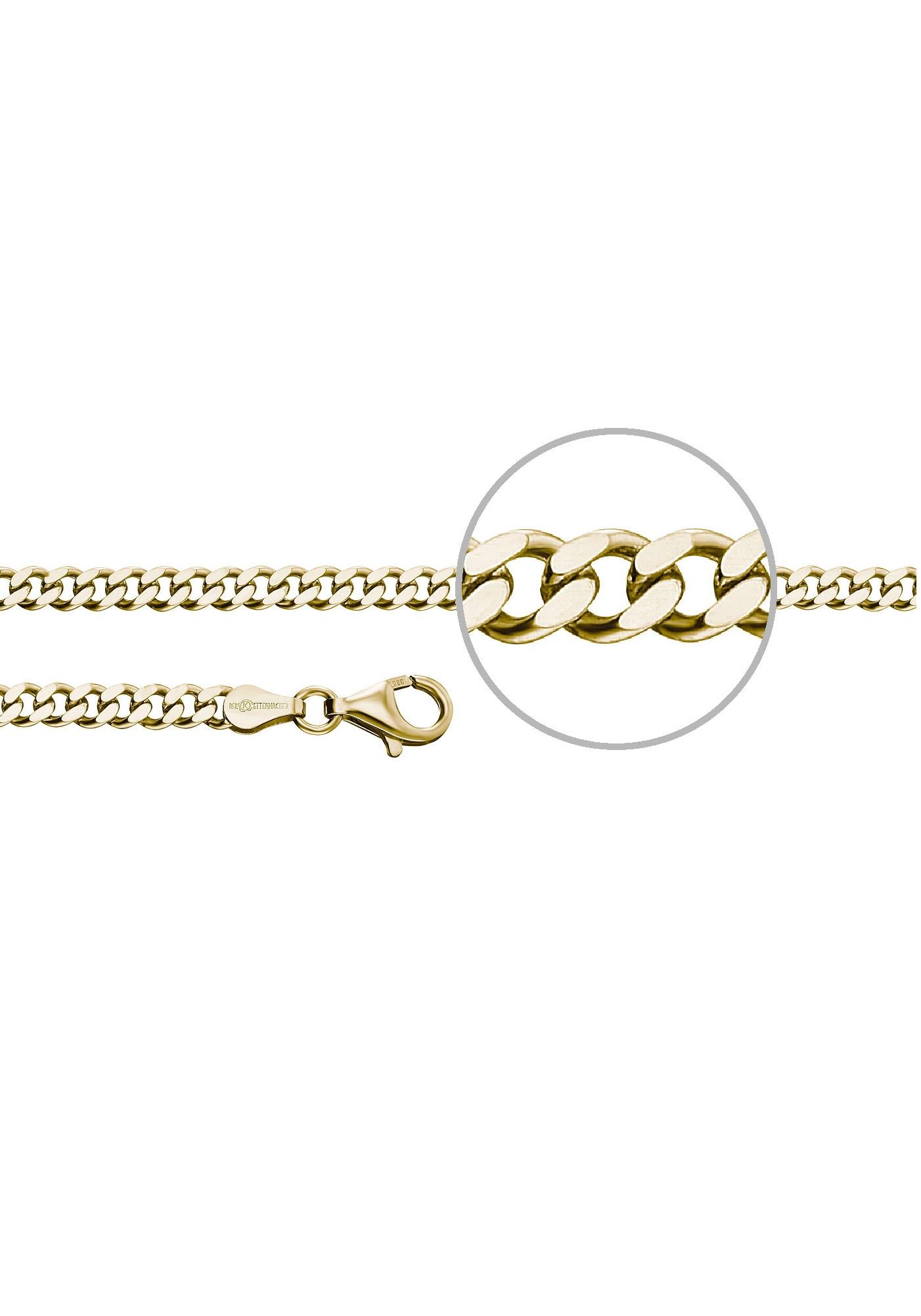 Der Kettenmacher Silberkette »Panzerkette diamantiert, ca. 4,0 mm breit, P4 günstig online kaufen