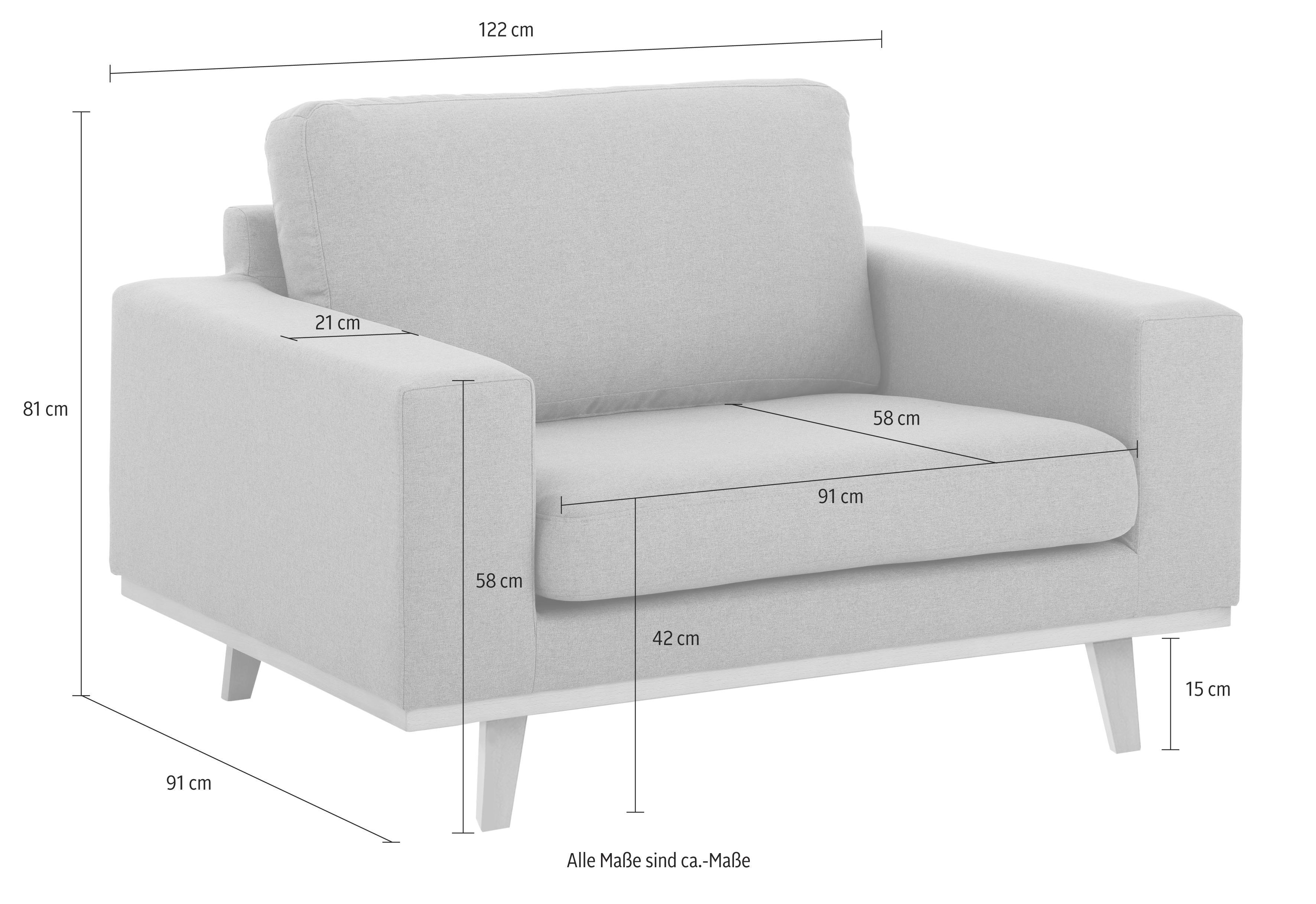Home affaire Sessel Torino, mit Echtholzrahmen; in 3 Bezugsqualitäten günstig online kaufen
