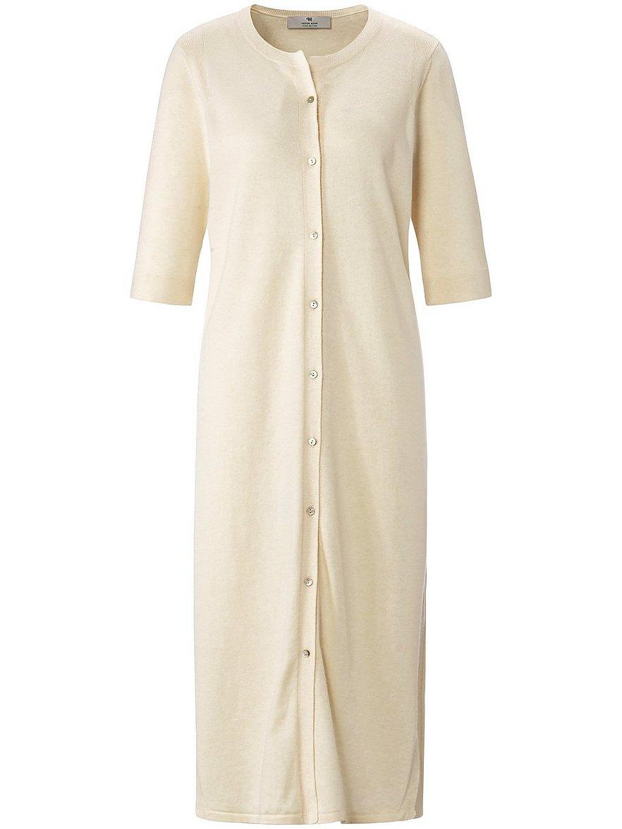 Strickmantel-Kleid PETER HAHN PURE EDITION weiss Größe: 42 günstig online kaufen