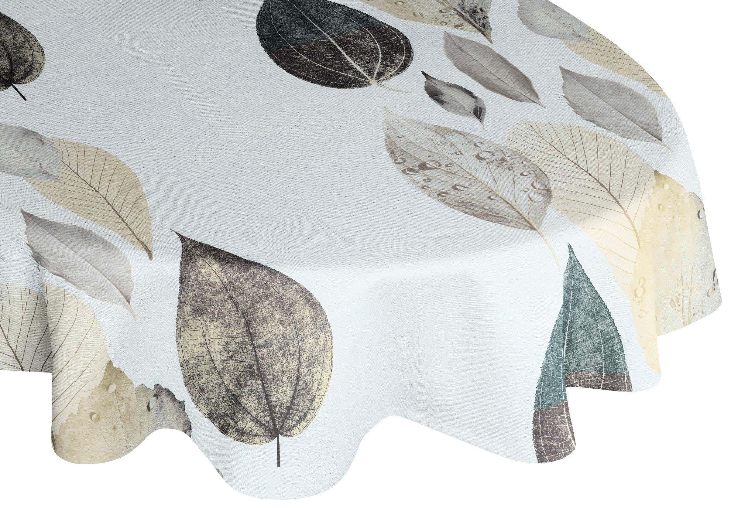 Tischdecke »MAREK«, orange, Material Polyester, bedruckt, gemustert, oval günstig online kaufen