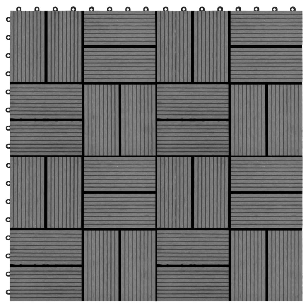 Terrassenfliesen 11 Stück Wpc 30 X 30 Cm 1 Qm Grau günstig online kaufen