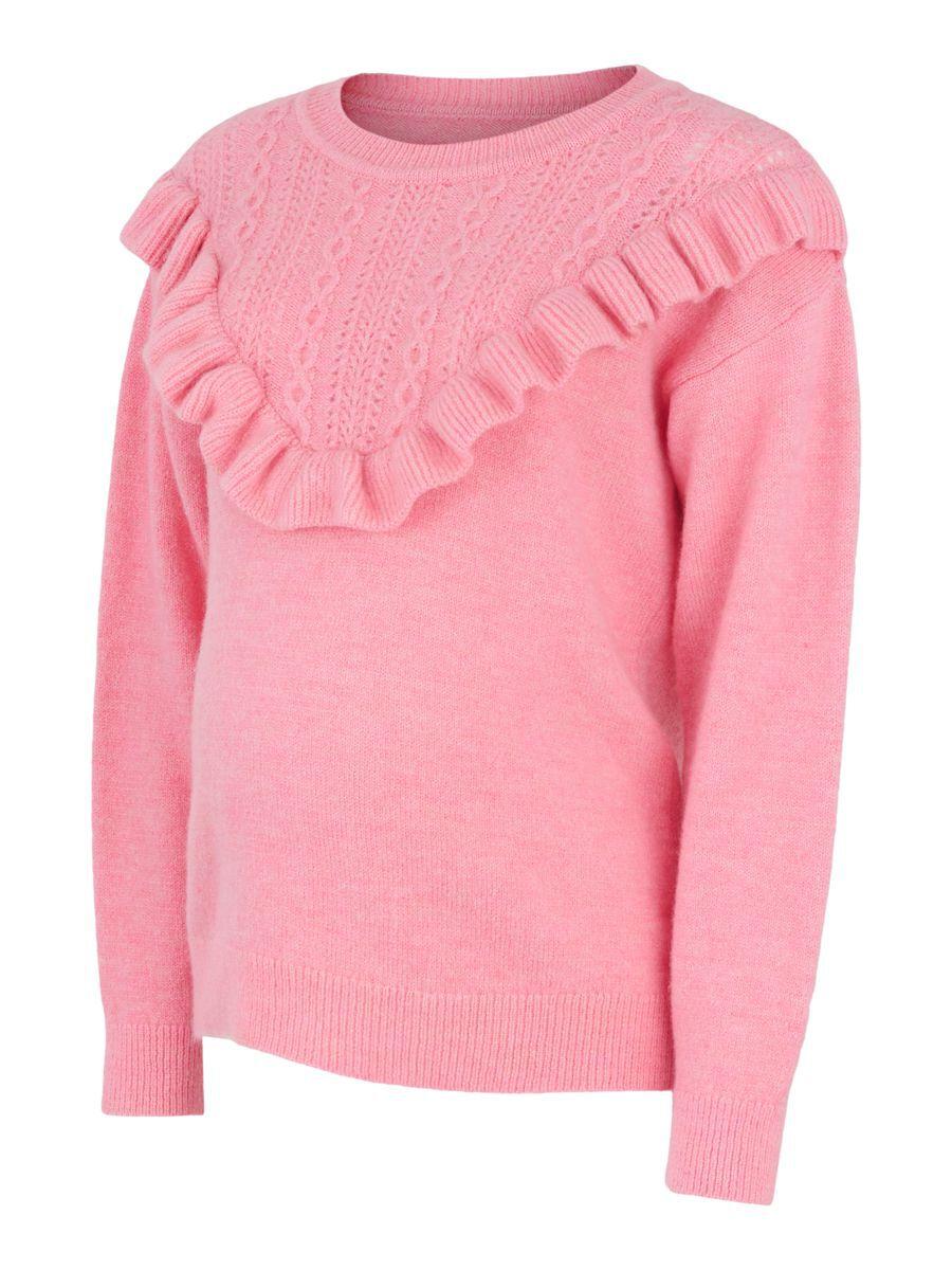 MAMA.LICIOUS Mlfrill Knit Umstandspullover Damen Pink günstig online kaufen