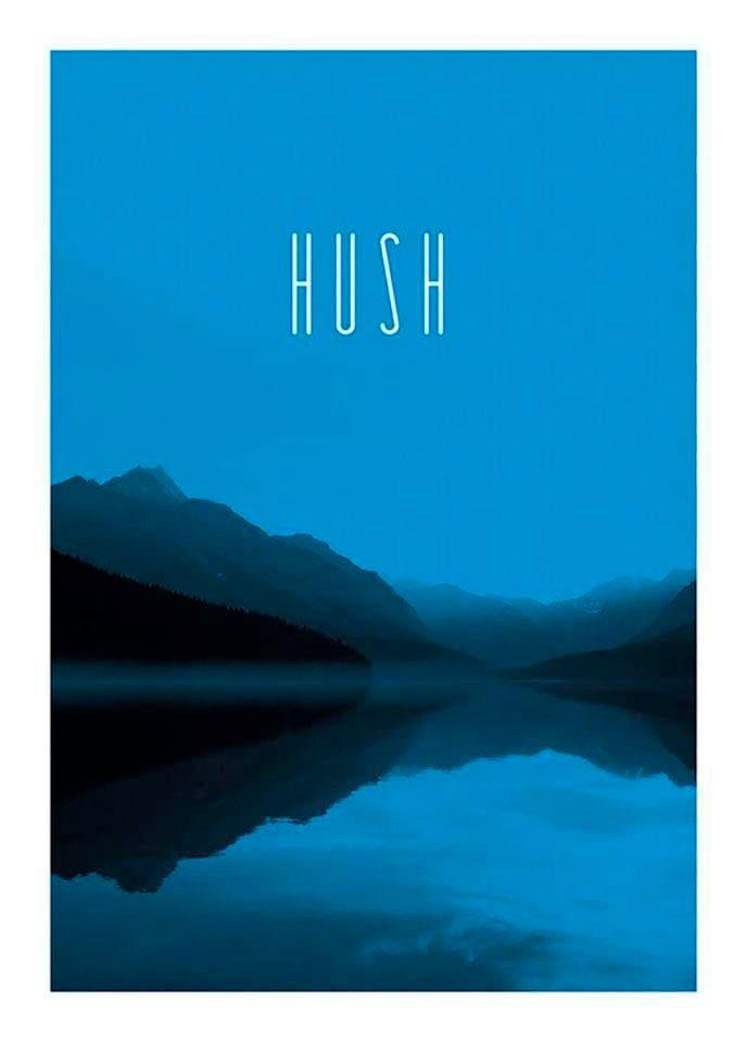 Komar Poster »Word Lake Hush Blue«, Natur, Höhe: 70cm günstig online kaufen