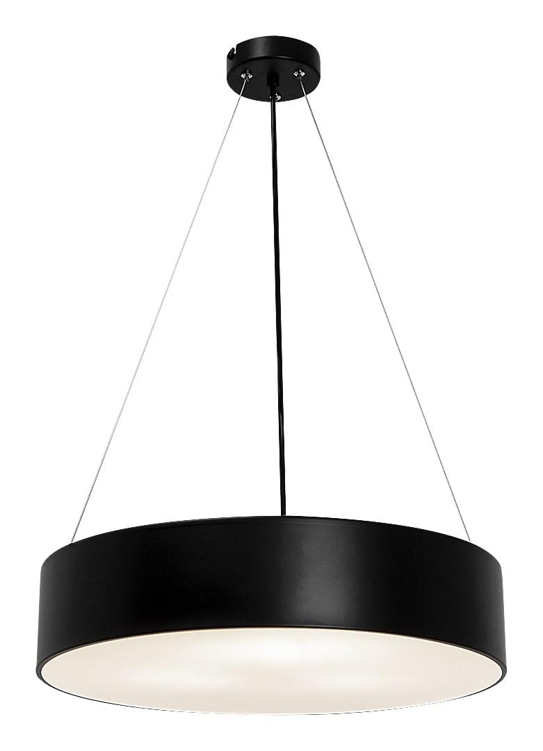 Pendelleuchte Metall Rund mattschwarz weiß 45 cm Renata günstig online kaufen