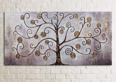 """YS-Art™ """"Gemälde Acryl """"""""Reichtumsbaum"""""""" handgemalt auf Leinwand"""" braun Gr. günstig online kaufen"""