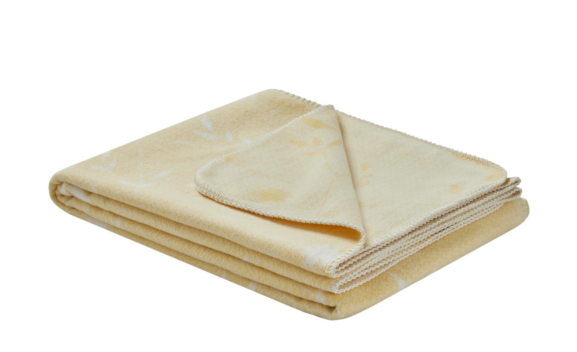 Biederlack Wohndecke  Sun Kissed ¦ gelb ¦ 50% Baumwolle, 43% Polyacryl, 7% günstig online kaufen