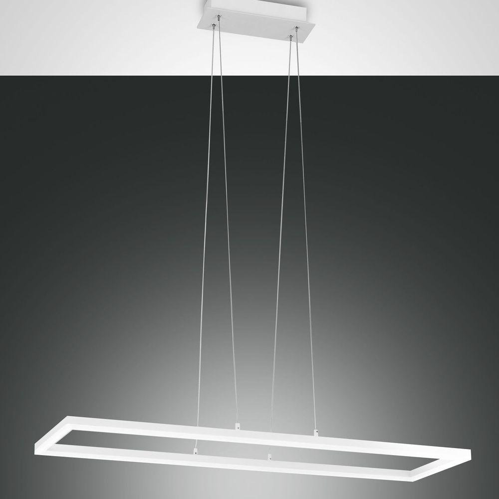 LED Pendelleuchte Bard rechteckig in weiß 52W 4680lm dimmbar günstig online kaufen