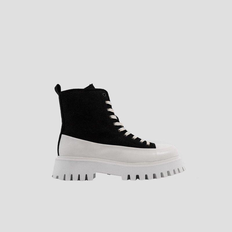 Bronx Groov-y Canvas Biker Boots EU 43 Black/White günstig online kaufen