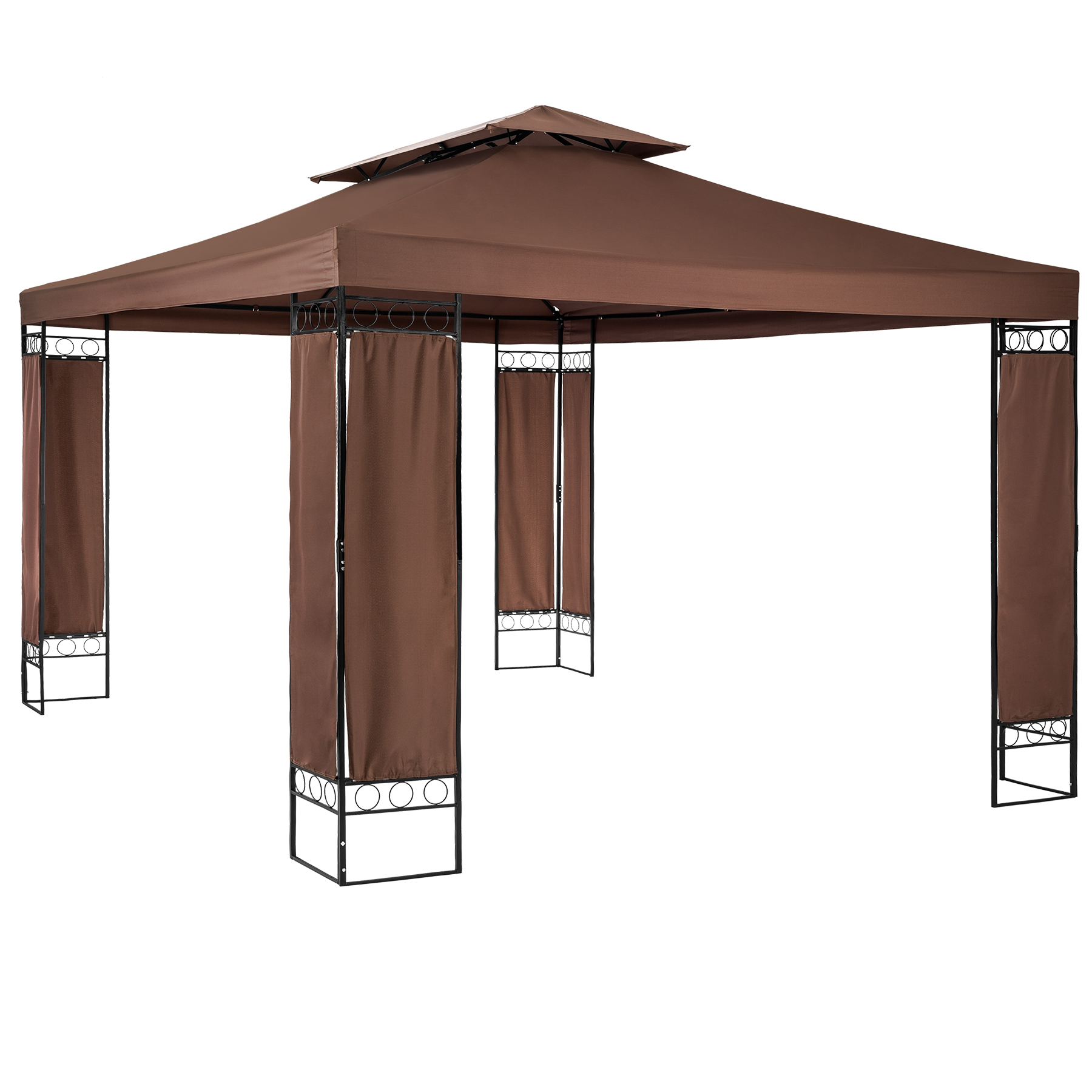 Luxus Gartenpavillon Leyla 390 x 290cm braun günstig online kaufen
